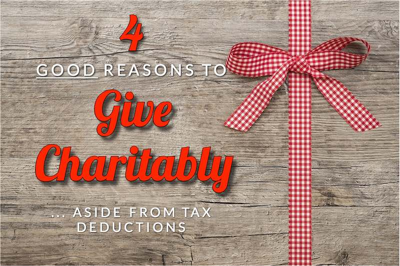 Roberts' Four Good Reasons To Give Charitably, Aside From Tax Deductions