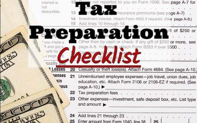 Roberts CPA Group's 2017 Tax Preparation Checklist