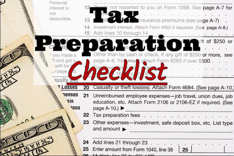 Roberts CPA Group's 2017 Tax Preparation Checklist